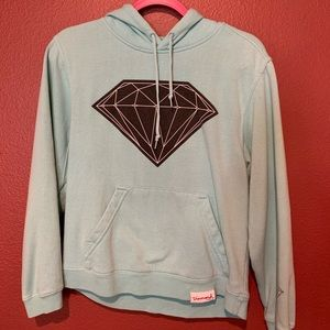 Aqua DIAMOND Hoodie Medium